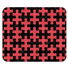 Puzzle1 Black Marble & Red Colored Pencil Double Sided Flano Blanket (small)