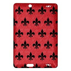 Royal1 Black Marble & Red Colored Pencil (r) Amazon Kindle Fire Hd (2013) Hardshell Case