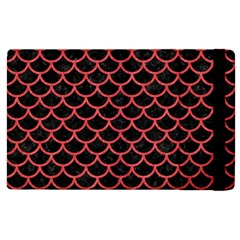 Scales1 Black Marble & Red Colored Pencil (r) Apple Ipad 2 Flip Case