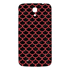 Scales1 Black Marble & Red Colored Pencil (r) Samsung Galaxy Mega I9200 Hardshell Back Case