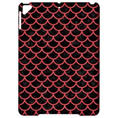 Scales1 Black Marble & Red Colored Pencil (r) Apple Ipad Pro 9 7   Hardshell Case