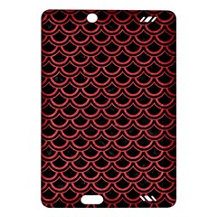 Scales2 Black Marble & Red Colored Pencil (r) Amazon Kindle Fire Hd (2013) Hardshell Case