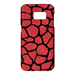 Skin1 Black Marble & Red Colored Pencil (r) Samsung Galaxy S7 Hardshell Case