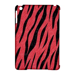 Skin3 Black Marble & Red Colored Pencil Apple Ipad Mini Hardshell Case (compatible With Smart Cover)