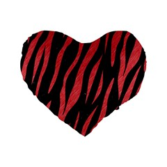 Skin3 Black Marble & Red Colored Pencil (r) Standard 16  Premium Heart Shape Cushions