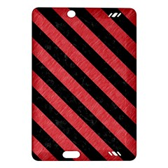 Stripes3 Black Marble & Red Colored Pencil Amazon Kindle Fire Hd (2013) Hardshell Case