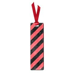 Stripes3 Black Marble & Red Colored Pencil (r) Small Book Marks