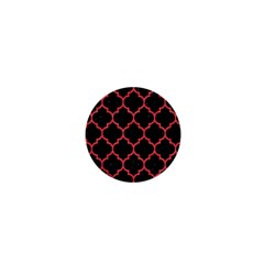 Tile1 Black Marble & Red Colored Pencil (r) 1  Mini Buttons