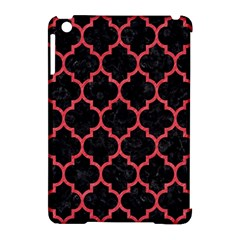 Tile1 Black Marble & Red Colored Pencil (r) Apple Ipad Mini Hardshell Case (compatible With Smart Cover)