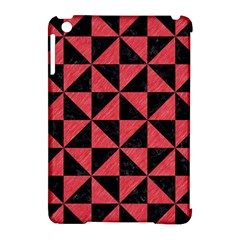Triangle1 Black Marble & Red Colored Pencil Apple Ipad Mini Hardshell Case (compatible With Smart Cover)