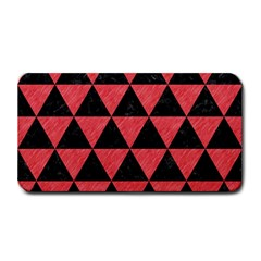 Triangle3 Black Marble & Red Colored Pencil Medium Bar Mats
