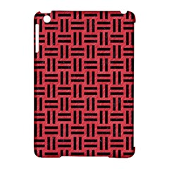 Woven1 Black Marble & Red Colored Pencil Apple Ipad Mini Hardshell Case (compatible With Smart Cover)