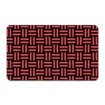 WOVEN1 BLACK MARBLE & RED COLORED PENCIL (R) Magnet (Rectangular) Front
