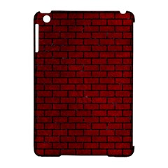 Brick1 Black Marble & Red Grunge Apple Ipad Mini Hardshell Case (compatible With Smart Cover)