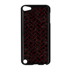 Brick2 Black Marble & Red Grunge (r) Apple Ipod Touch 5 Case (black)