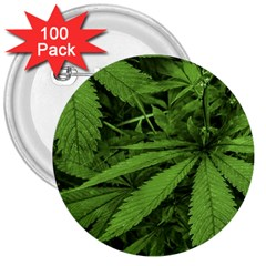 Marijuana Plants Pattern 3  Buttons (100 Pack)