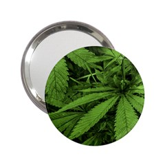 Marijuana Plants Pattern 2 25  Handbag Mirrors