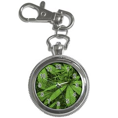 Marijuana Plants Pattern Key Chain Watches
