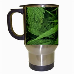 Marijuana Plants Pattern Travel Mugs (white)