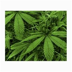 Marijuana Plants Pattern Small Glasses Cloth