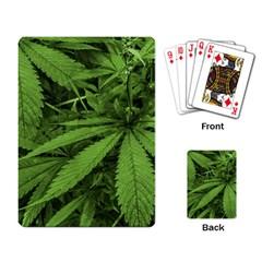 Marijuana Plants Pattern Playing Card