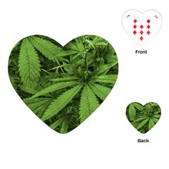 Marijuana Plants Pattern Playing Cards (heart)