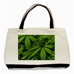 Marijuana Plants Pattern Basic Tote Bag (two Sides)