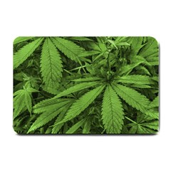 Marijuana Plants Pattern Small Doormat