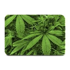 Marijuana Plants Pattern Plate Mats