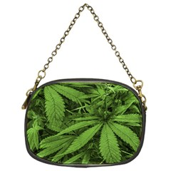 Marijuana Plants Pattern Chain Purses (one Side)
