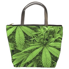 Marijuana Plants Pattern Bucket Bags