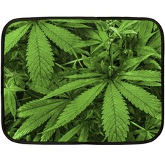 Marijuana Plants Pattern Fleece Blanket (mini)