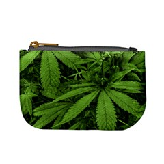 Marijuana Plants Pattern Mini Coin Purses
