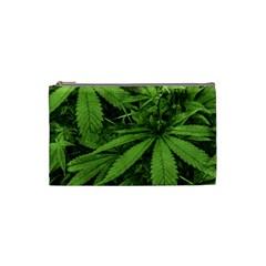 Marijuana Plants Pattern Cosmetic Bag (small)