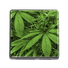 Marijuana Plants Pattern Memory Card Reader (square)