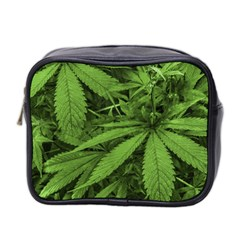 Marijuana Plants Pattern Mini Toiletries Bag 2 Side