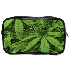 Marijuana Plants Pattern Toiletries Bags 2 Side