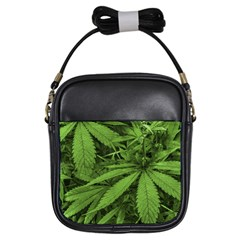 Marijuana Plants Pattern Girls Sling Bags