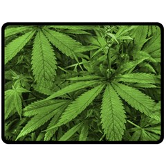 Marijuana Plants Pattern Fleece Blanket (large)