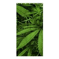 Marijuana Plants Pattern Shower Curtain 36  X 72  (stall)