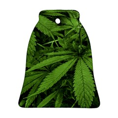 Marijuana Plants Pattern Bell Ornament (two Sides)