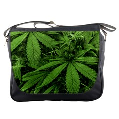 Marijuana Plants Pattern Messenger Bags
