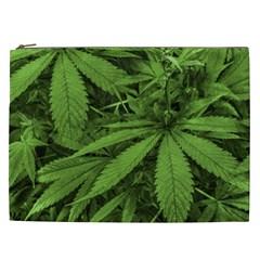 Marijuana Plants Pattern Cosmetic Bag (xxl)