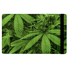 Marijuana Plants Pattern Apple Ipad 2 Flip Case