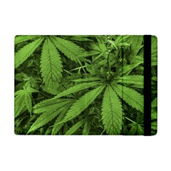 Marijuana Plants Pattern Apple Ipad Mini Flip Case