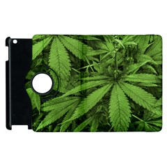 Marijuana Plants Pattern Apple Ipad 3/4 Flip 360 Case