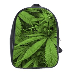 Marijuana Plants Pattern School Bag (xl)