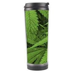 Marijuana Plants Pattern Travel Tumbler