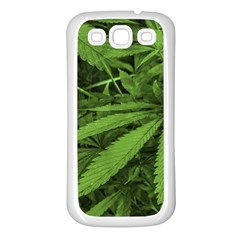 Marijuana Plants Pattern Samsung Galaxy S3 Back Case (white)