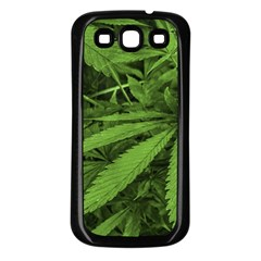 Marijuana Plants Pattern Samsung Galaxy S3 Back Case (black)